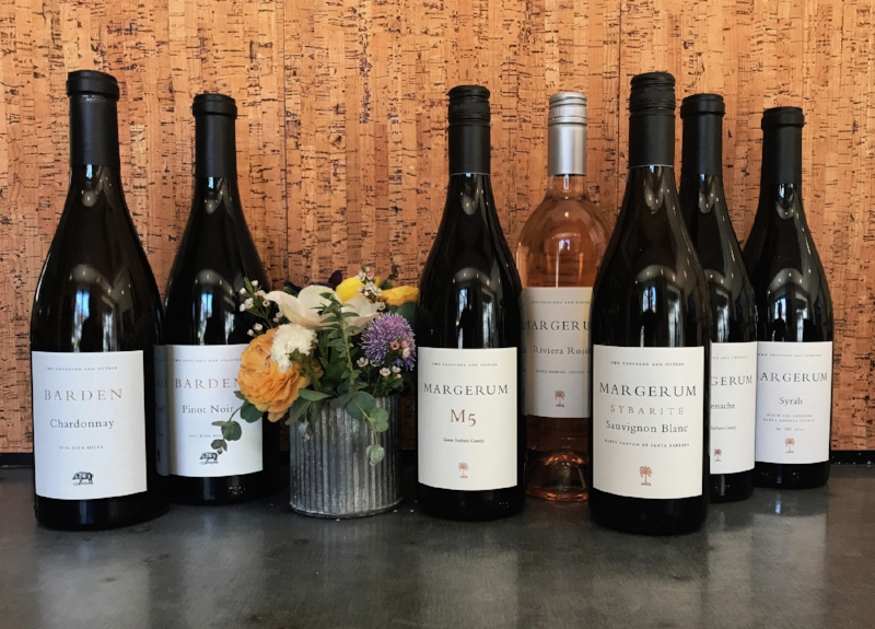 A lineup of Margerum wines...