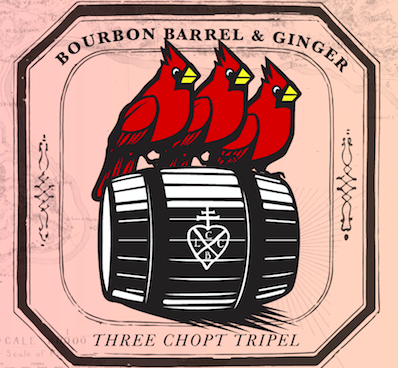 - 2019 Bourbon Barrel Tripel w/ Ginger.This Belgian-style Tripel has been aging in rare Kentucky whiskey barrels for four months and will be conditioned over 15 lbs of fresh ginger
