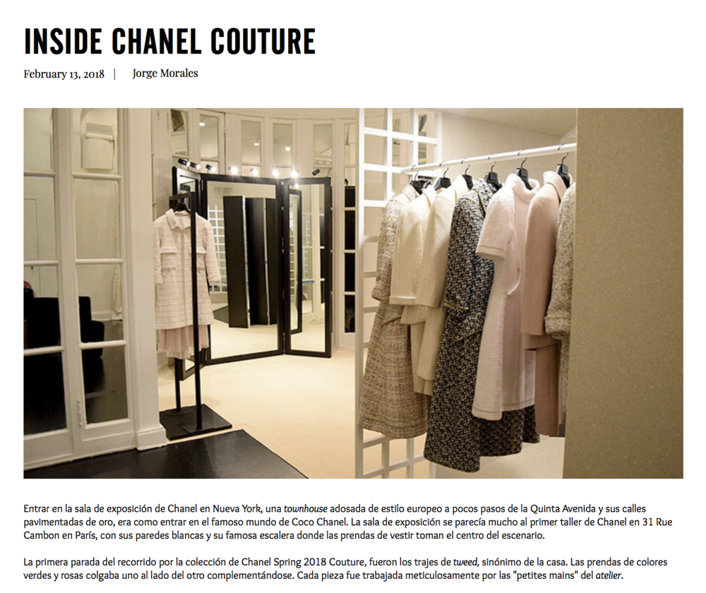 Read about my private 1-on-1 tour of Chanel's SS 2016 Couture Collection