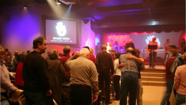 New Hope Community Church worship service.