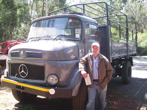 "Brad Phillips with ""Mercy,"" our Mercedes 911 truck."