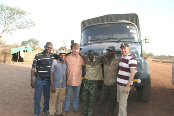 PPF's driver, David M. (second from left) was kidnapped for three days by rogue troops in Southern Sudan.