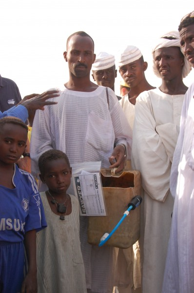 PPF delivered a water purifier to a clinic in Southern Darfur.