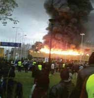 Jomo Kenyatta International Airport in flames.