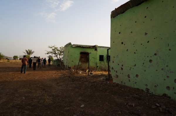 This building in the Nuba Mountains was destroyed by the daily bombings.