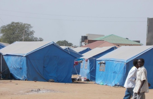 IDP camp in Konyokonyo, Juba, South Sudan.