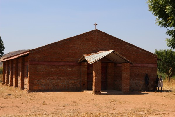 Church buildings dot the Nuba landscape.