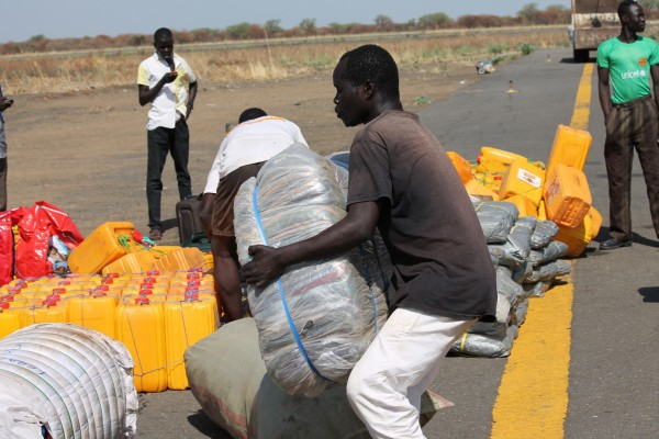 A recent PPF distribution to refugees in the Upper Nile.