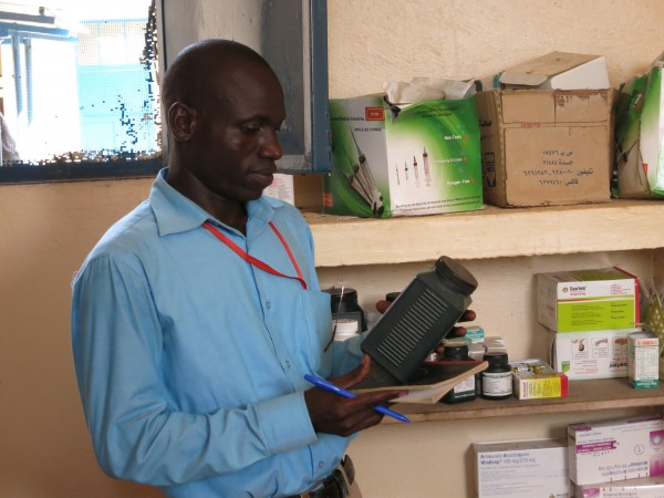 PPF's Medical Officer inspects medical relief inventory