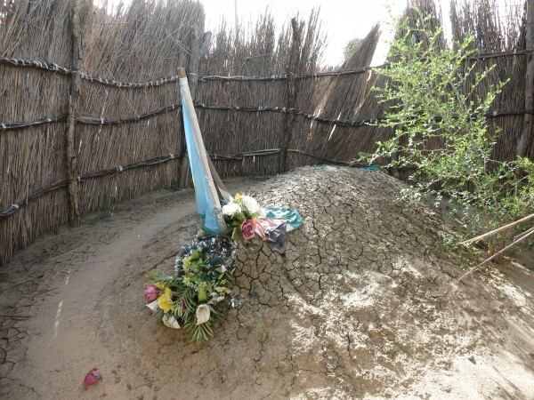 The grave of murdered paramount chief Kuol Deng Kuol