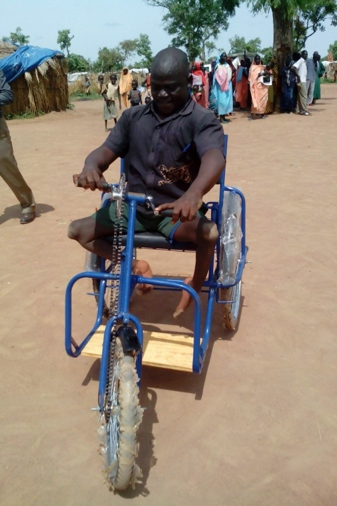 Matta Idriss with new wheelchair bicycle