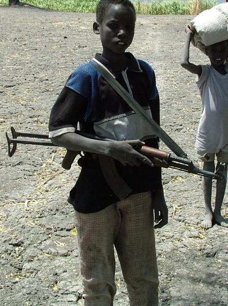 Boy with AK47 - 1