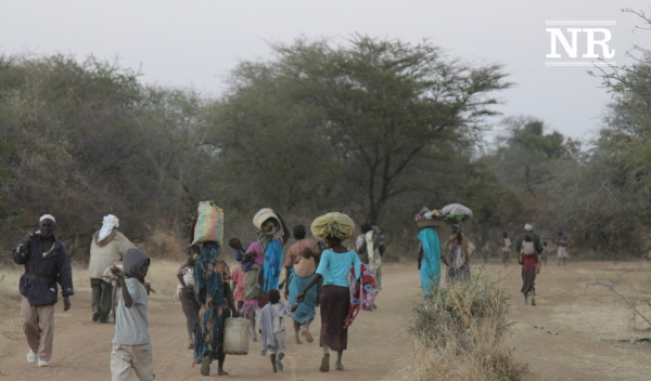 Thousands of Nuba residents have fled the advancing Islamist army.