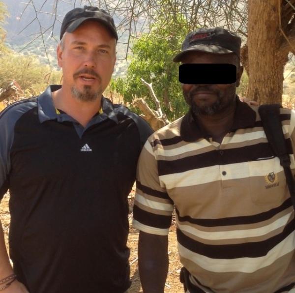 Brad with Pastor Morris