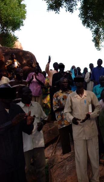 Nuba worship service