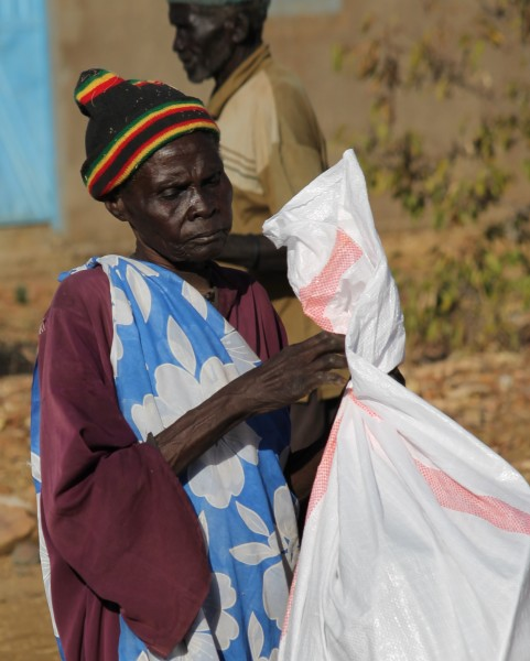 Emergency non-food relief items are given to the most vulnerable.