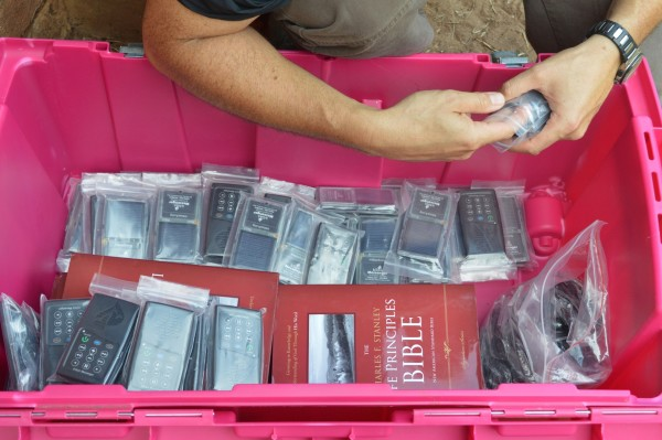 Discipleship materials distributed to pastors included Study Bibles and audio Bibles