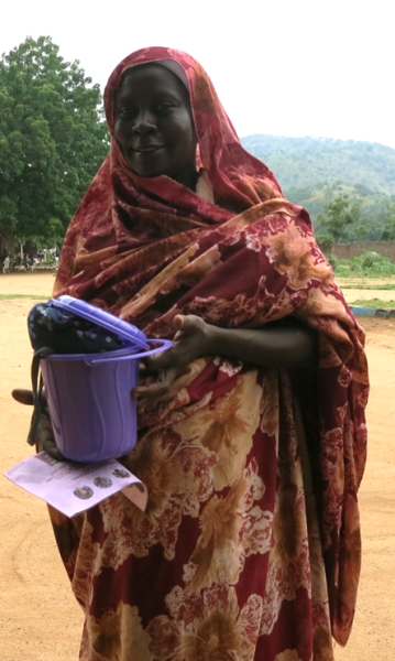woman with dignity kit - 2