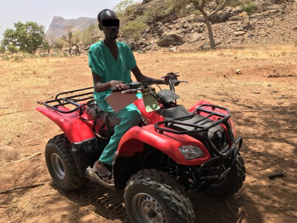 Dr. Omar gets a quadbike