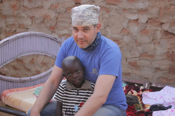 matt makes a new friend in the nuba