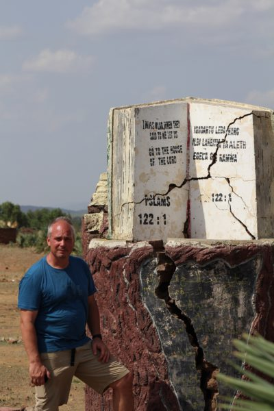 "A monument in Karkarai reads - ""I was glad when they said to me, 'let us go into the house of the Lord.'"""