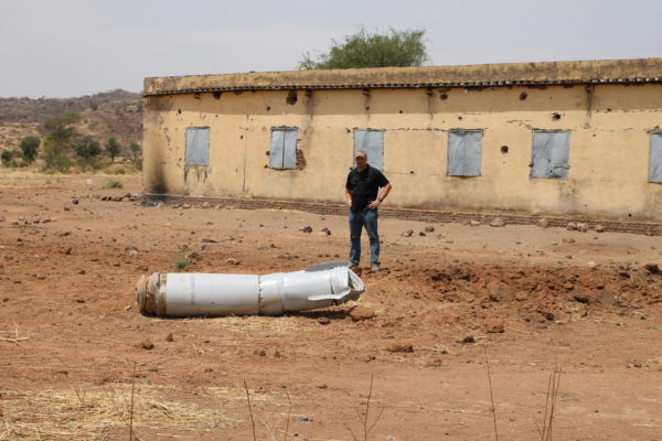 Unexploded bomb next to a primary school