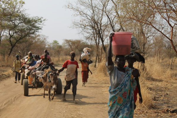 People fleeing the Nuba