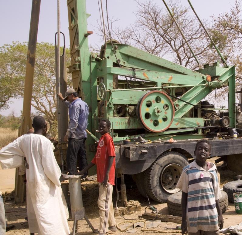 Drilling wells for Darfur refugees.jpg