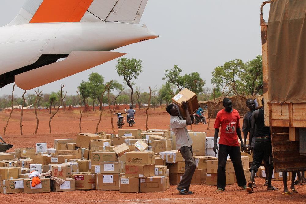Medicines being delivered