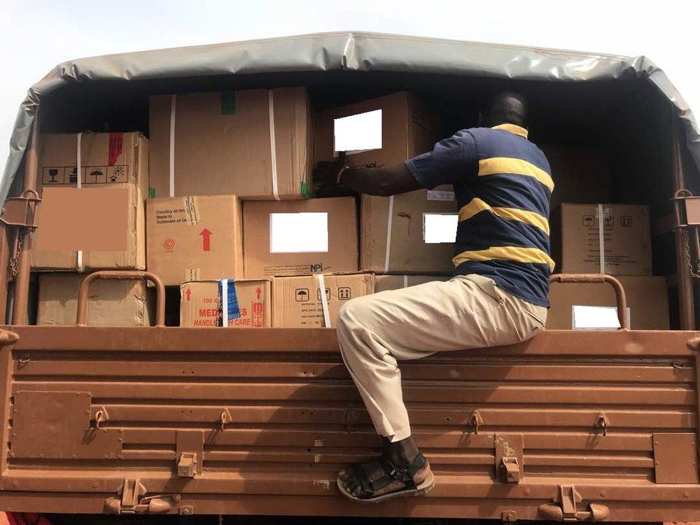 Unimog being unloaded