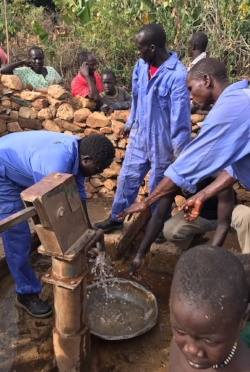 PPF's Safe Water Team repairing another well
