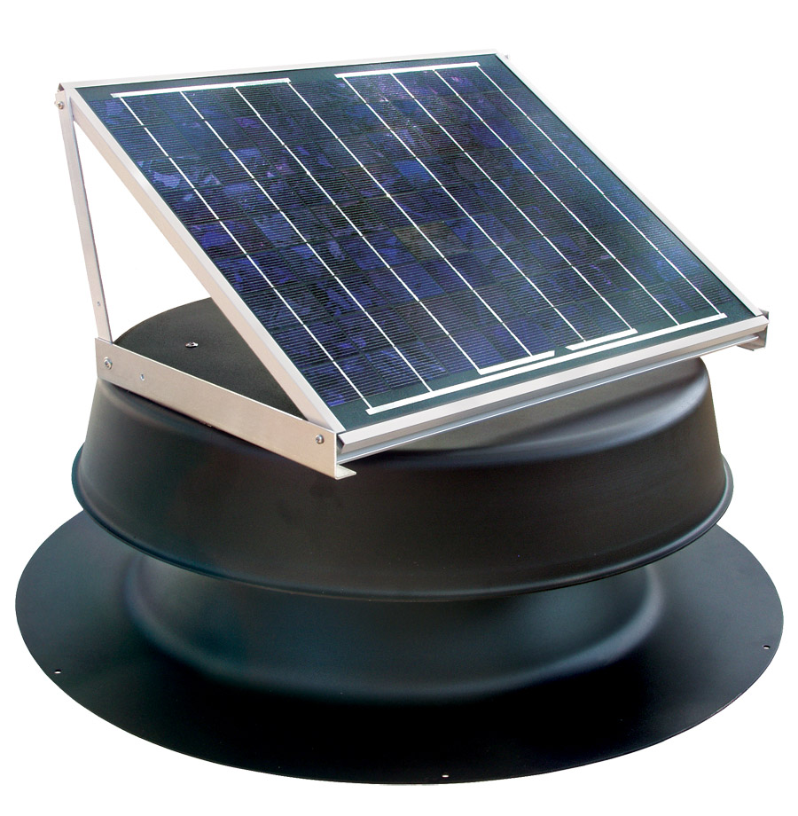 20 Watt Black Solar Attic Fan
