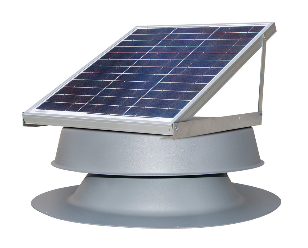 30 Watt Gray Solar Attic Fan