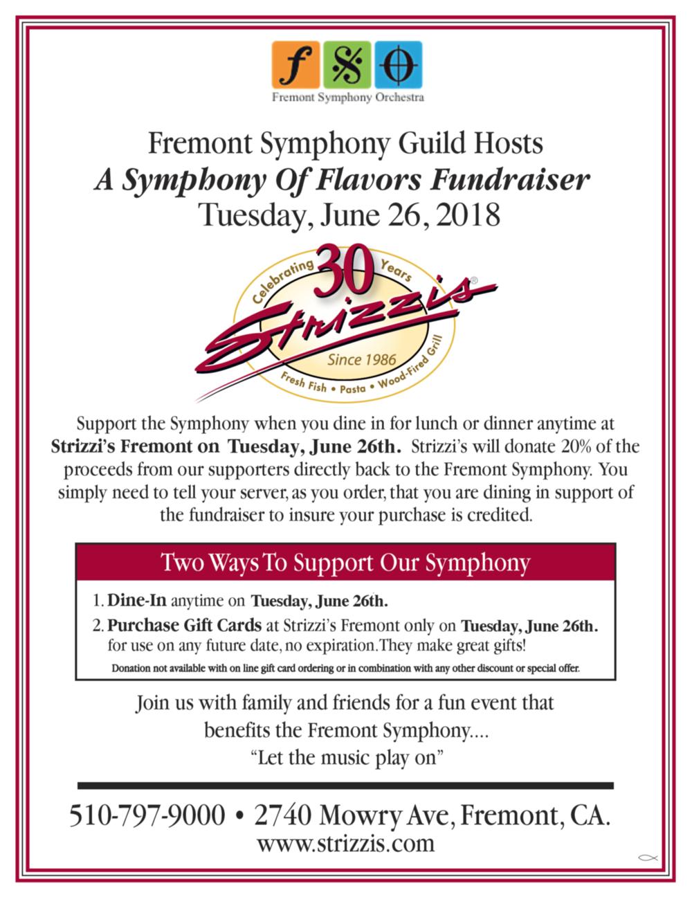 FSO Fundraiser @ Strizzi's in Fremont