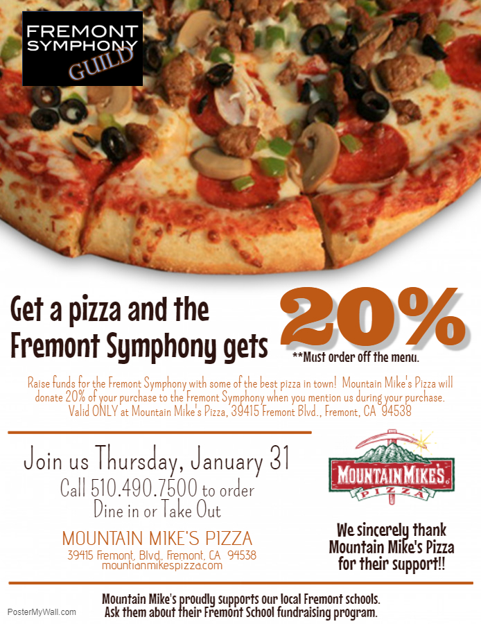 FS Fundraiser - Mountain Mike's Pizza of Fremont