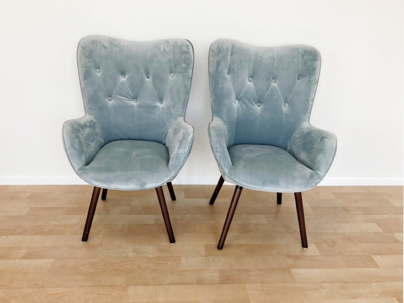 renee landry events boho dusty blue tufted velvet arm chairs for wedding rentals.jpg