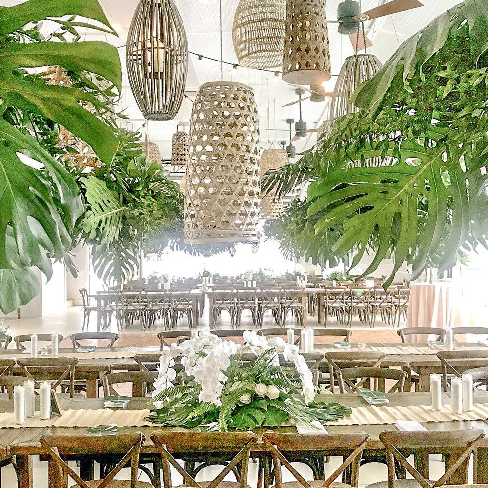 renee landry events wedding decor romantic boho rentals rattan basket chandelier lighting hanging.jpg