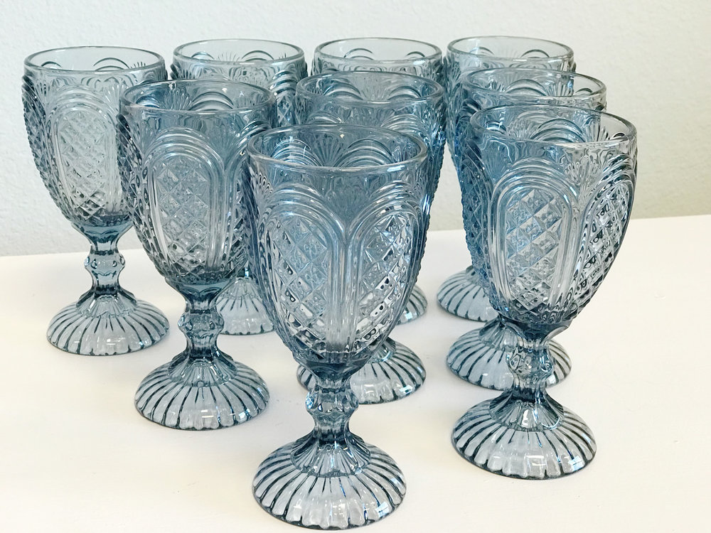 renee landry events glassware cut glass crystal stemware blue boho wedding rental.jpg