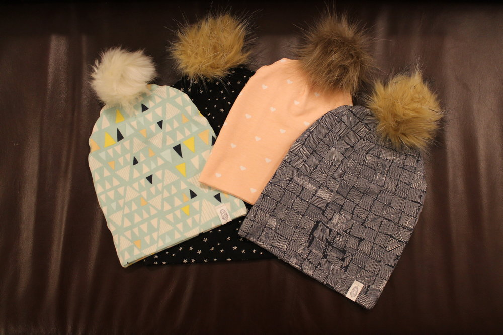 Pompoms now available! - Now you can add a pompom to any hat.