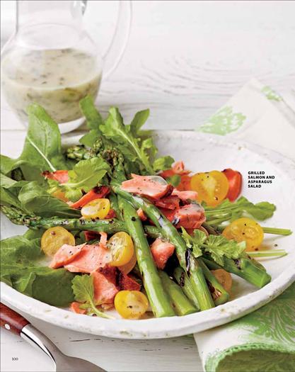 Salmon and aspragus salad