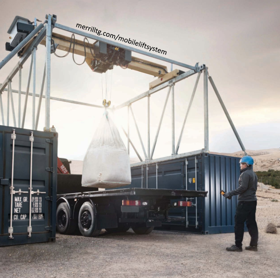 Merrill Mobile Lift System loading a truck