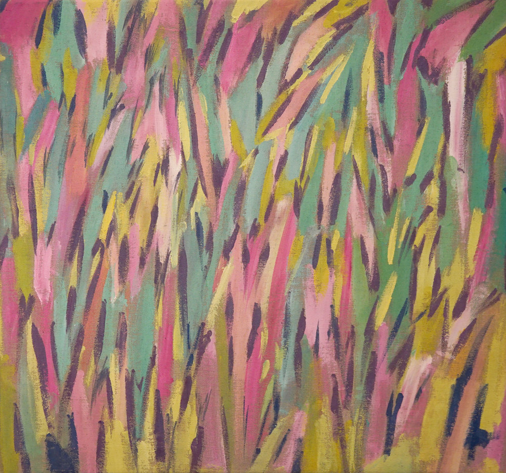 """""""Neon Forrest"""" Acrylic on Belgian Linen. 26x40 inches approx. 2017. P.O.R."""