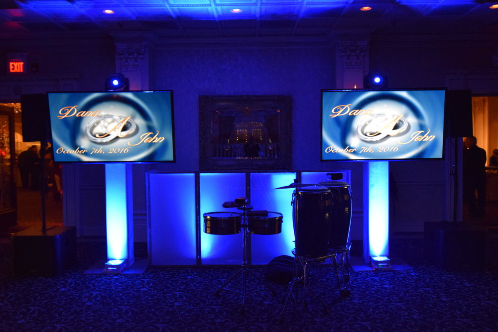 2 TVs, 2Lights, Percussion DJ Booth.JPG