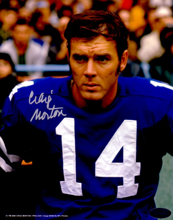 Craig Morton   American football quarterback in the National Football League (NFL) for 18 seasons with the Dallas Cowboys, New York Giants, and Denver Broncos. Craig also played college football at the University of California.