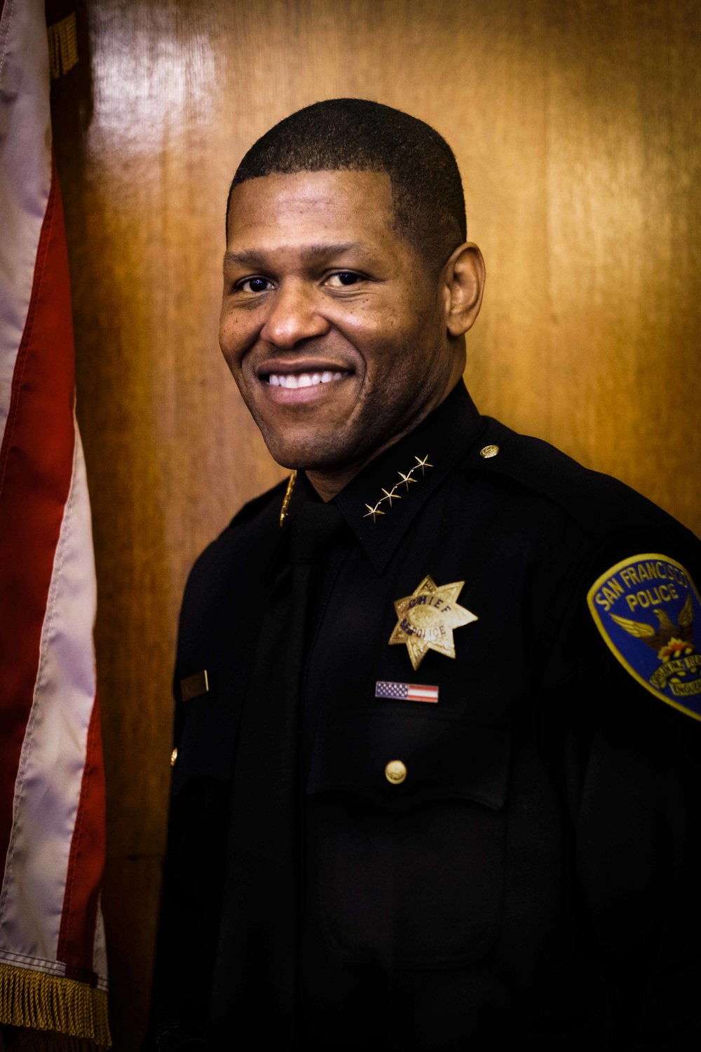 "William ""Bill"" Scott   San Francisco Police Chief William ""Bill"" Scott was sworn in by Mayor Edwin M. Lee on January 23, 2017. Chief Scott joins SFPD after serving 27 years in the Los Angeles Police Department. He rose through the ranks to become Deputy Chief of LAPD's South Bureau after being promoted to Commander in 2012."