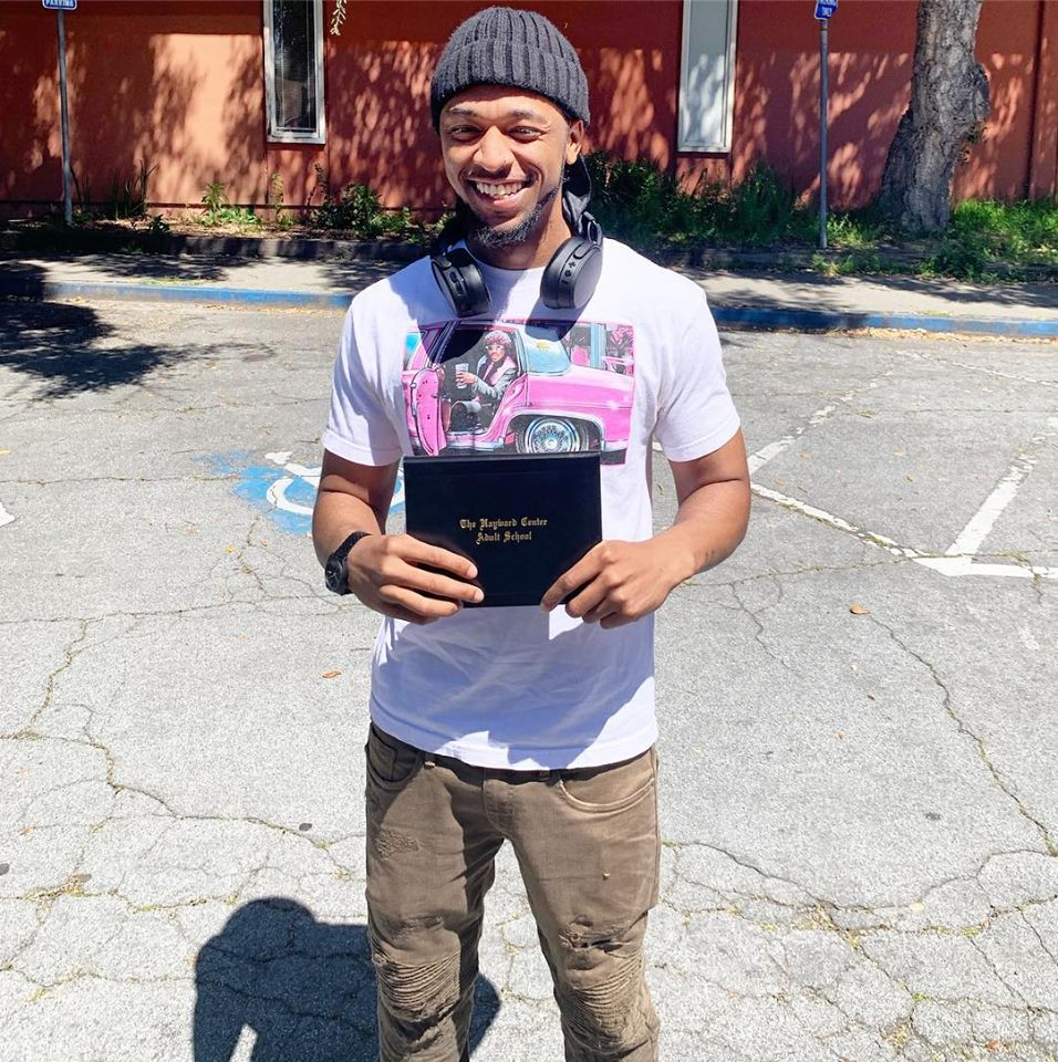 Ameer R. - Congratulations Ameer Richmond! Ameer joined Youth Enrichment Services in January 2019 with the goal of attaining his GED. Now, with plenty of hard work and motivation, he finally obtained his GED in April, 2019. Ameer would like to continue his education with the Wastewater Treatment Plant Operator program at Castro Valley Adult School! Great job Ameer! Keep the motivation going!