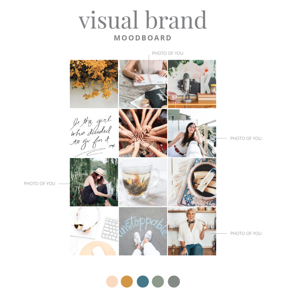 Visual Brand Moodboard Brand Spanking You