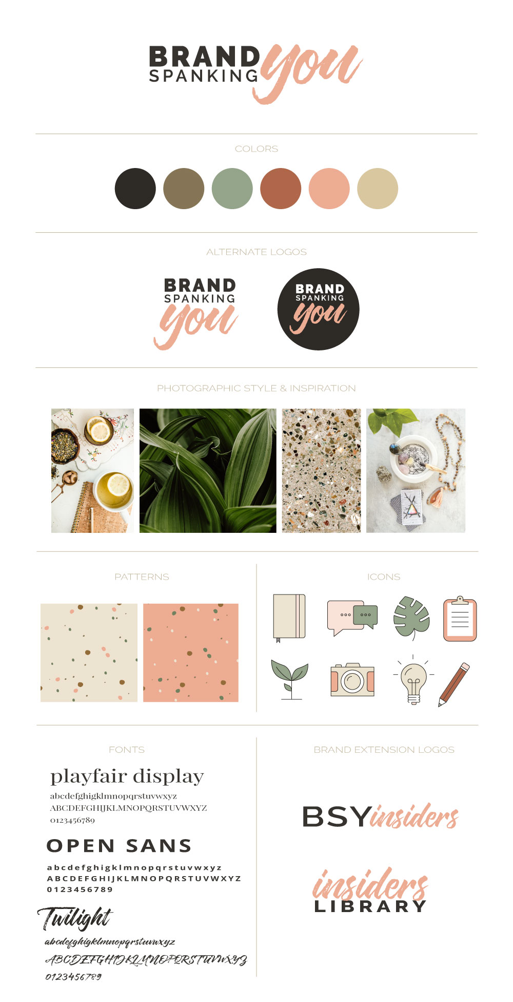 Brand Board for Brand Spanking You Visual Brand Identity