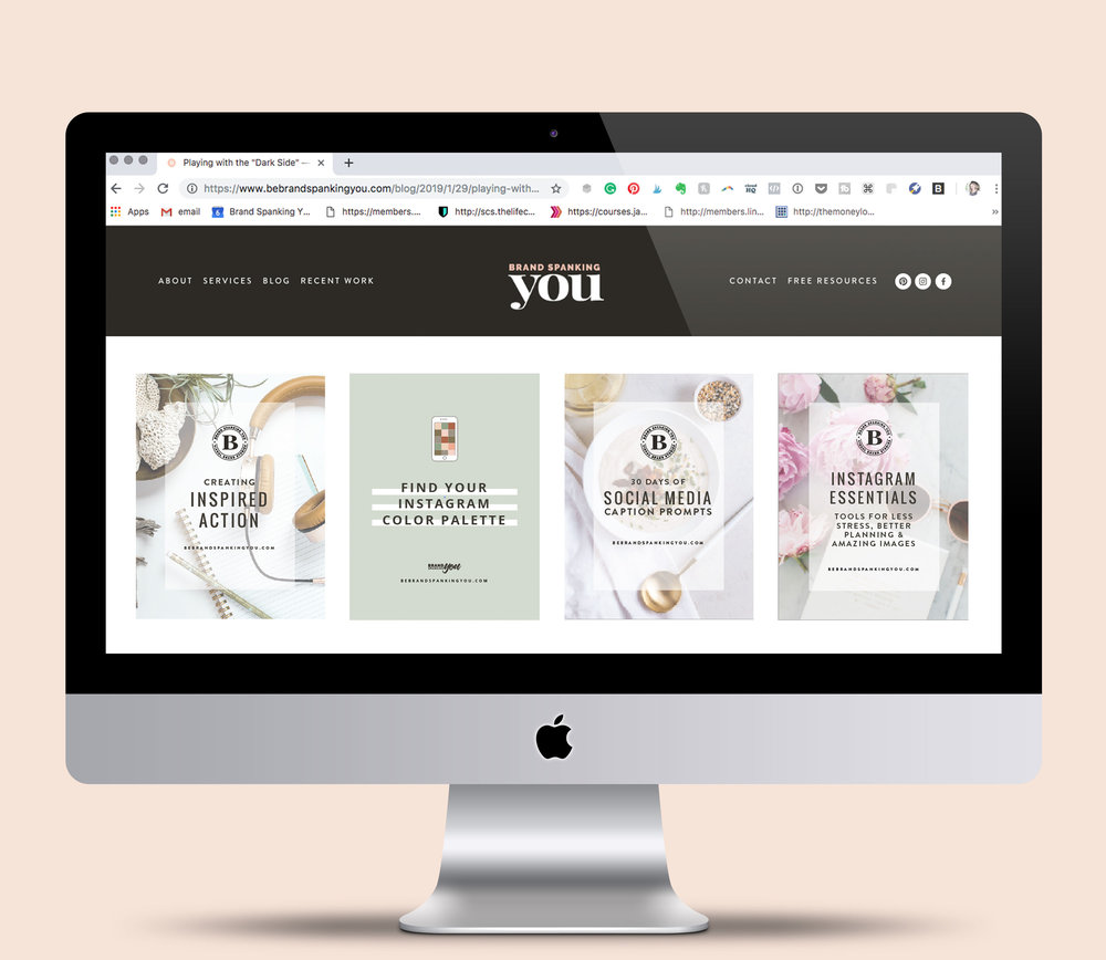 START BUILDING A BRAND & BIZ YOU LOVE - with deep dive workbooks + strategies that will give you clarity, insights & motivation.