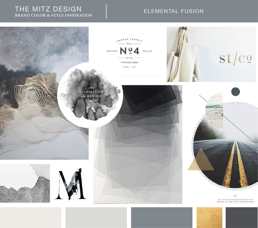Moodboard for The Mitz Brand Identity. Design by Sarah Ehlinger   Brand Spanking You